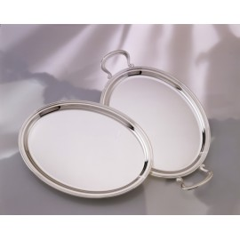 "Oval Tray ""Inglese"" - With handles"