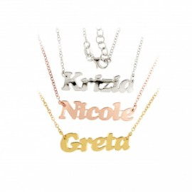 Necklace or Choker with the Block Letters name