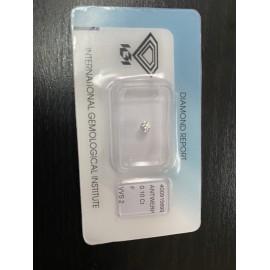 Natural Diamond 0,10 carati
