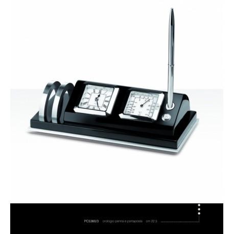 Orologio con penna,portaposta e termometro