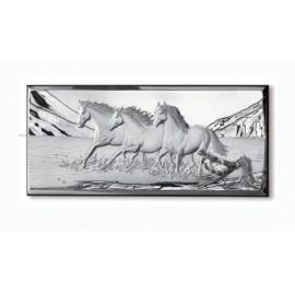 Quadro Natura con Cavalli e ramo in 3 D