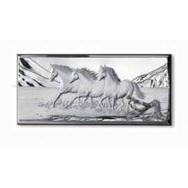 Still picture with Horses and branch in 3 D