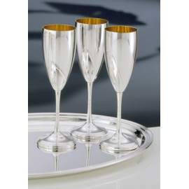 Pair Goblets Gold Interior